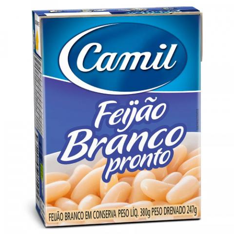 FEIJAO BRANCO CAMIL PRONTO TEMPERADO 380g