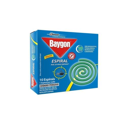 INSETICIDA ESPIRAL BAYGON COM 10 UNIDADES
