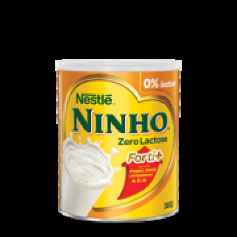 LEITE EM PO INTEGRAL NINHO FORTI + ZERO LACTOSE NESTLE 380g