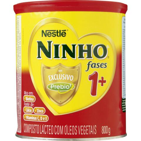 LEITE EM PO NINHO FASES +1 COM PREBIO NESTLE 800g