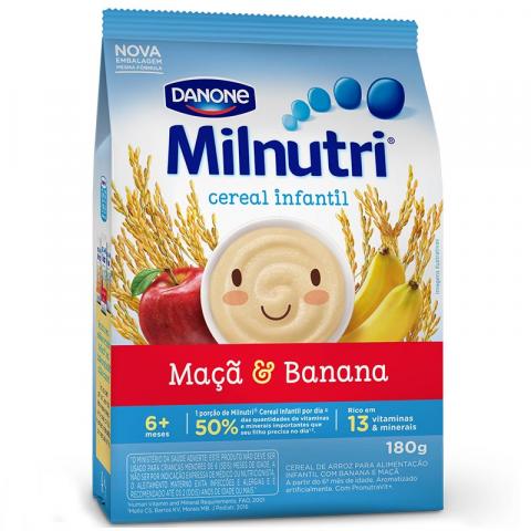 MILNUTRI CEREAL INFANTIL DE BANANA E MACA 180g