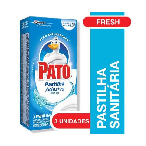 PASTILHA SANITARIA ADESIVA PATO FRESH 3 UNIDADES