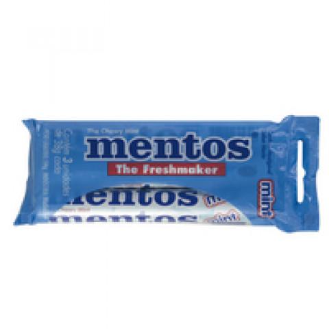 PASTILHAS MENTOS DE MENTA Com 03 Unidades 114g