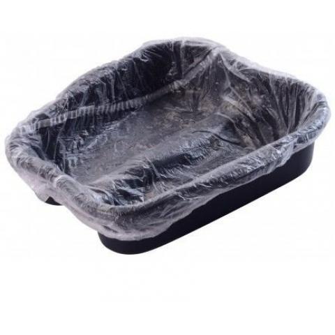 Protetor plástico descartável de bacia para pés 100 Unidades