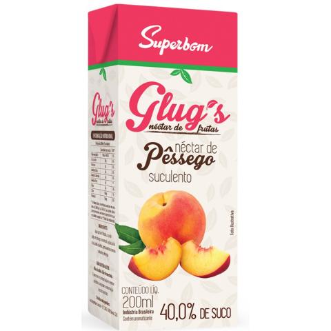 SUCO GLUGS PESSEGO SUPERBOM NATURAL 200ml