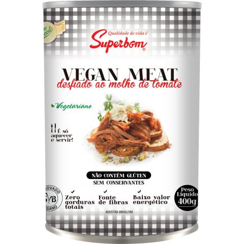 VEGAN MEAT DESFIADO AO MOLHO DE TOMATE VEGANO SUPERBOM 400g