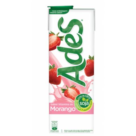 Bebida a base de soja ADES sabor Vitamina de morango 1 L