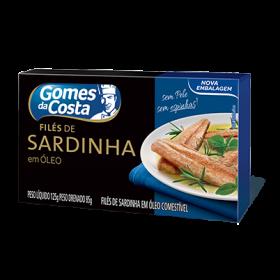 FILES DE SARDINHA EM OLEO GOMES DA COSTA 125g