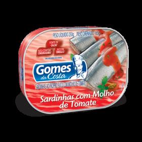 SARDINHAS COM MOLHO DE TOMATE GOMES DA COSTA LATA 1250g