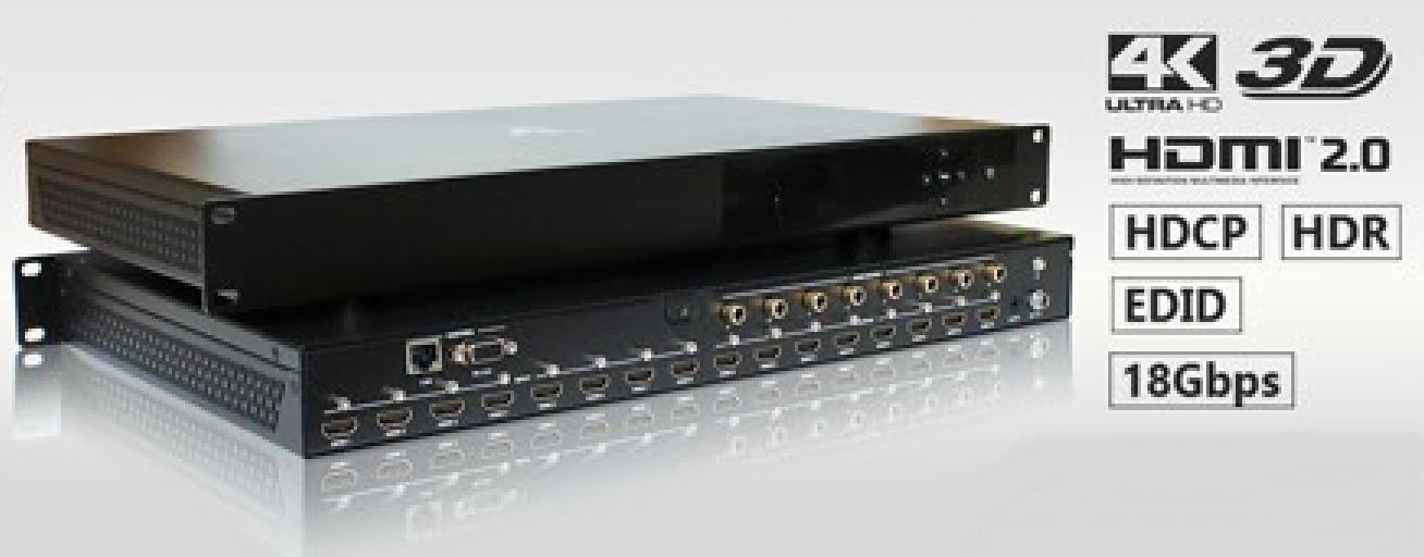 MATRIZ DE VIDEO HDMI 4K@60HZ 8-IN X 8-OUT C/ EXTRAÇÃO DE AUDIO E CONTROLE REMOTO AS-MX88