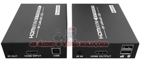 EXTENDER DE VIDEO KVM HDMI / USB ATÉ 120MTS VIA CAT5/6 DK168KVM(B)
