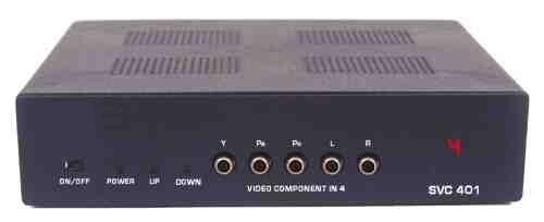 SELETOR DE VIDEO COMPONENTE+AUDIO 4-IN X 1-OUT  C/ CONTROLE REMOTO - SVC-401