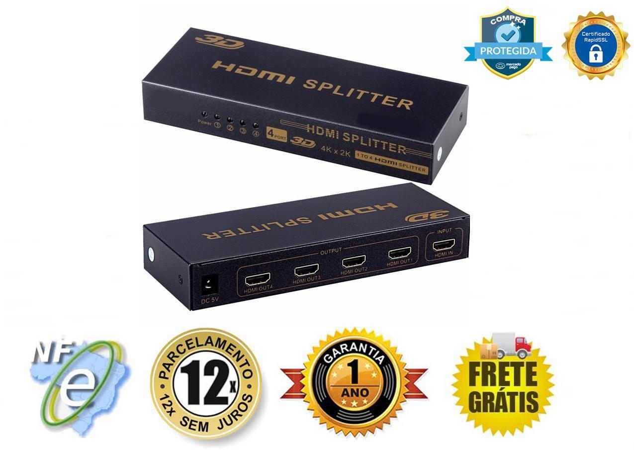 DISTRIBUIDOR DE VIDEO HDMI FHD V1.4 4K 30Hz 1-IN X 4-OUT SP-HM114