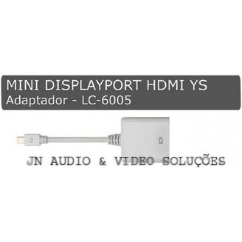 ADAPTADOR MINI DISPLAYPORT PARA HDMI - 20 CM - LC-6005