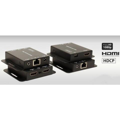 EXTENDER DE VIDEO HDMI COM LOOP ATÉ 50MTS VIA CAT5E/6 AS-EX50