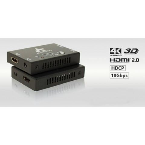 REPRTIDOR DE SINAL HDMI 6G 20M COM SCALER 4K 60Hz 10M AS-SC