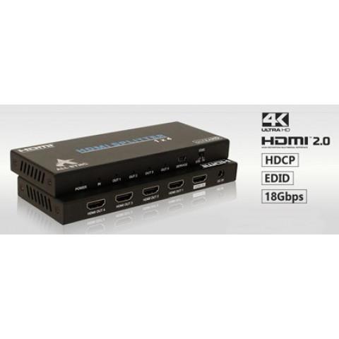 DISTRIBUIDOR DE VIDEO HDMI UHD UHD HDCP 2.2 4k@60hz 1-IN X 4-OUT AS-SP4P