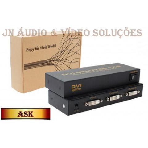 DISTRIBUIDOR DE VIDEO DVI-D 1-IN X 2-OUT RESOLUÇÃO (3840 X 2160) ASK-DVISP0002M1