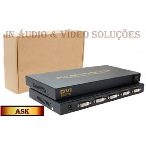 DISTRIBUIDOR DE VIDEO DVI-D 1-IN X 4-OUT RESOLUÇÃO (3840 X 2160) ASK-DVISP0004M1