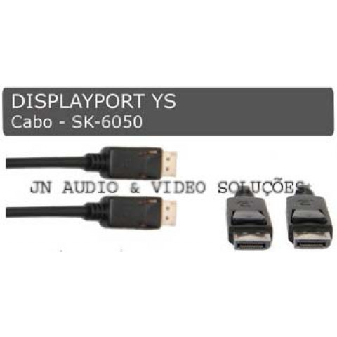 CABO DISPLAYPORT MACHO X MACHO - 1,0 MT - SK-6050