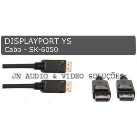 CABO DISPLAYPORT MACHO X MACHO - 2,0 MTS - SK-6050