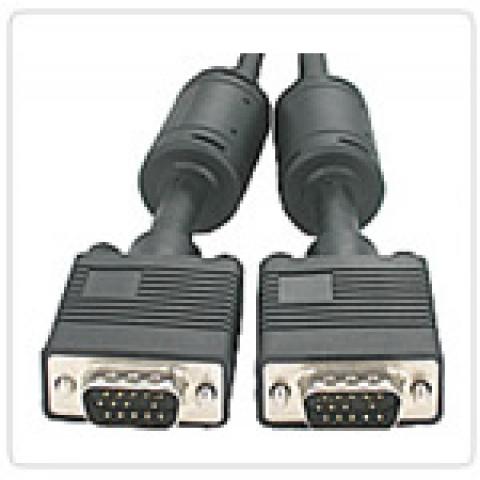 CABO MONITOR RGB HD15M X HD15M C/ FERRITE 30 METROS - HL-VGA3+8C-30M