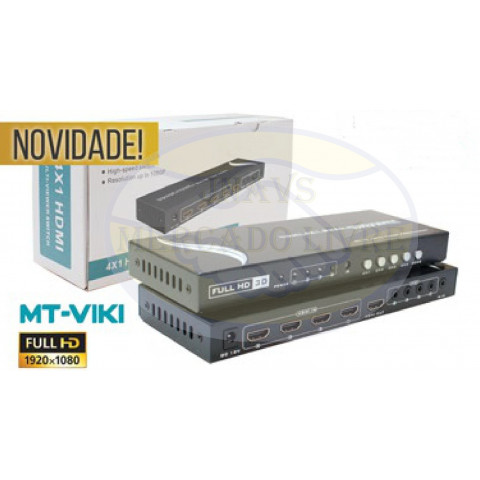 CHAVEADOR DE VIDEO HDMI MULTI-VIEWER 4-IN x 1-OUT - SWH-MT-SW041