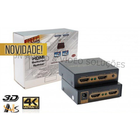 CHAVEADOR DE VIDEO HDMI UHD 4K*2K 2-IN X 2-OUT ASK-HDMX0013M1