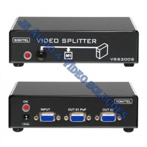 CHAVEADOR DE VIDEO VGA / WXGA 1-IN X 2-OUT (1-FIXO X 1-SELECIONAVÉL) VSS200SV