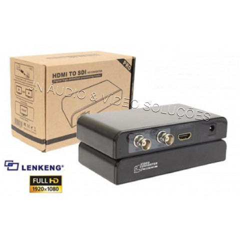 CONVERSOR DE VIDEO HDMI PARA 2-OUT SD-SDI / HD-SDI / 3G-SDI - LEN-LKV389