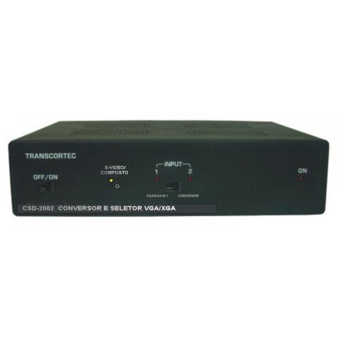 CONVERSOR SELETOR DE VIDEO V. COMPOSTO/S-VIDEO/VGA C/ AUDIO P2 PARA 2-VGA+AUDIO - CSD2002P
