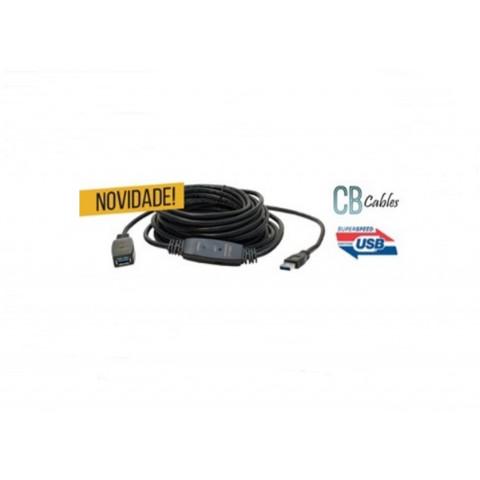 CABO USB 3.0 EXTENSOR AMPLIFICADO ATIVO M X F 10M CY-DY-5307-10M