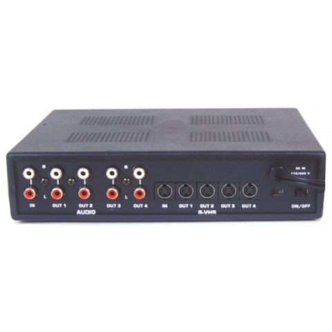 DISTRIBUIDOR DE S-VIDEO+AUDIO ANALÓGICO ESTÉREO(L/R) 1 X 4 - DS14