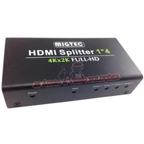 DISTRIBUIDOR DE VIDEO HDMI 4K*2K ULTRA HD 1.4 3D 1-IN X 4-OUT - 4KDK104