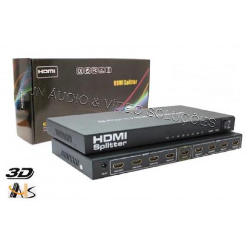 DISTRIBUIDOR DE VIDEO HDMI FULL HD 3D 1-IN X 8-OUT - ASK-SP130108N