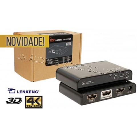 DISTRIBUIDOR DE VIDEO HDMI ULTRA HD 4K@60Hz 3D 1-IN x 2-IN LEN-LKV312-V2.0