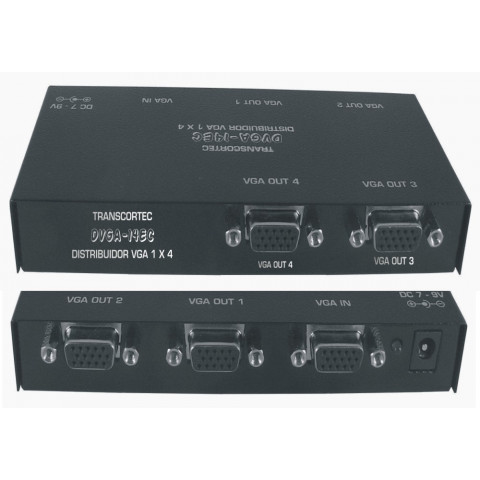 DISTRIBUIDOR DE VIDEO VGA / XVGA  1-IN X 4-OUT - DVGA14EC