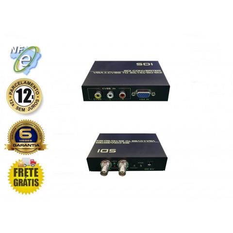 CONVERSOR DE VIDEO COMPOSTO RCA, VGA PARA 3G-SDI, HD-SDI, SD-SDI DK-AS