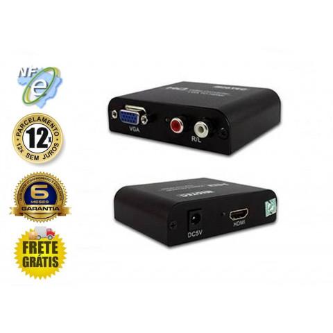 CONVERSOR DE VIDEO VGA+AUDIO PARA HDMI - DK001