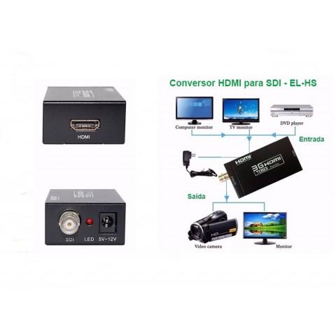 CONVERSOR DE VIDEO HDMI PARA SD-SDI / HD-SDI / 3G-SDI  EL-HS