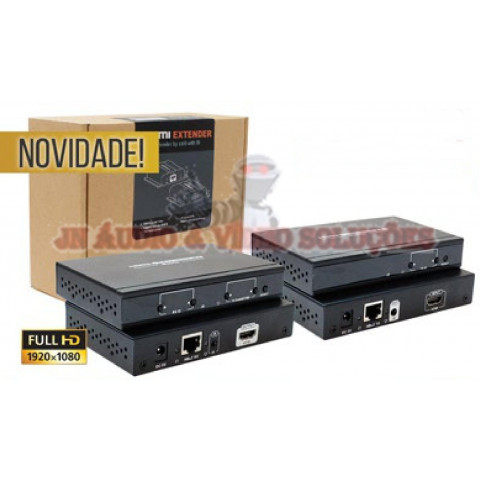 EXTENDER DE VIDEO HDMI HDBIT MATRIX VIA CAT5/6 ATÉ 120MTS LEN-LKV383MTX (KIT COM 01-TRANSMISSOR E 01-RECEPTOR)