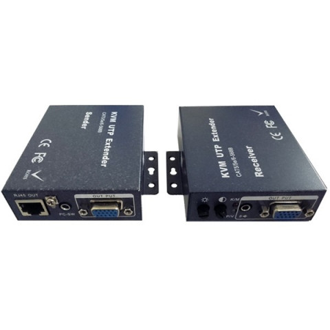 EXTENDER DE VIDEO KVM VGA+AUDIO / USB ATÉ 300MTS VIA CAT5/6 DK300KVM