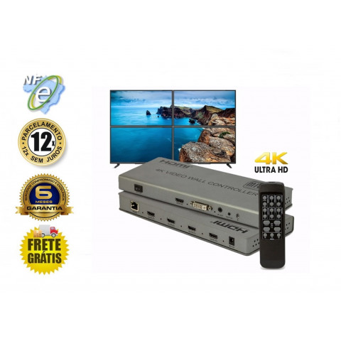 CONTROLADOR VIDEO WALL HDMI 4k 30Hz 2 X 2  HD-VW2x2
