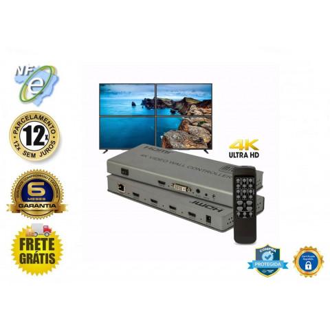 CONTROLADOR DE VÍDEO WALL DVI, HDMI 4K_2K 2 X 2 HDMI  HDVW2X2