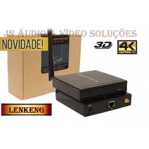 CONTROLADOR DE SISTEMA DE MATRIX HDbitT IP VIA SMARTPHONE OU TABLET LEN-HDMC001