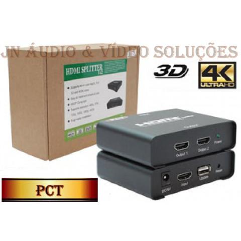 DISTRIBUIDOR DE VIDEO HDMI 4K*2K 3D 1-IN x 2-OUT - PCT-MHS214