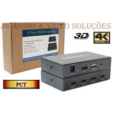 DISTRIBUIDOR DE VIDEO HDMI 4K*2K 3D 1-IN x 4-OUT - PCT-MHS414