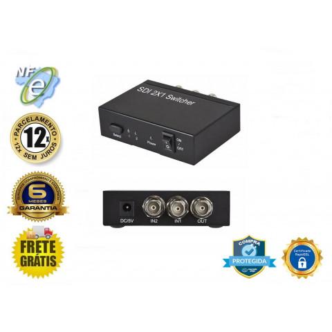 CHAVEADOR DE VIDEO SD-SDI / HD-SDI / 3G-SD 2-IN X 1-OUT Full HD - SDI2X1