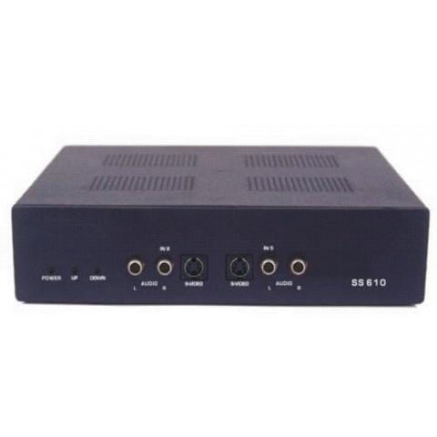 SELETOR DE SINAL S-VHS+ÁUDIO(L/R) C/ CONTROLE REMOTO 6-IN X 1-OUT SS610