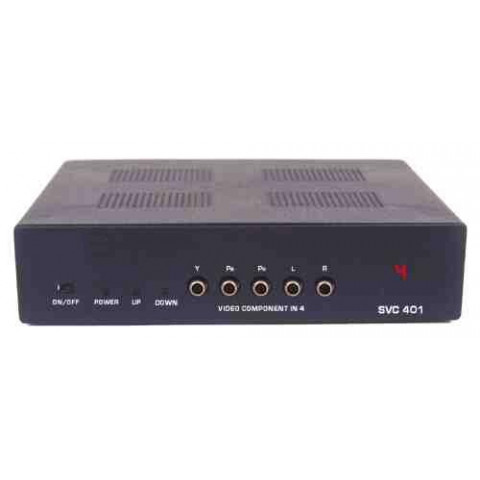 SELETOR DE VIDEO COMPONENTE+AUDIO 4-IN X 1-OUT  C/ CONTROLE REMOTO - SVC-401